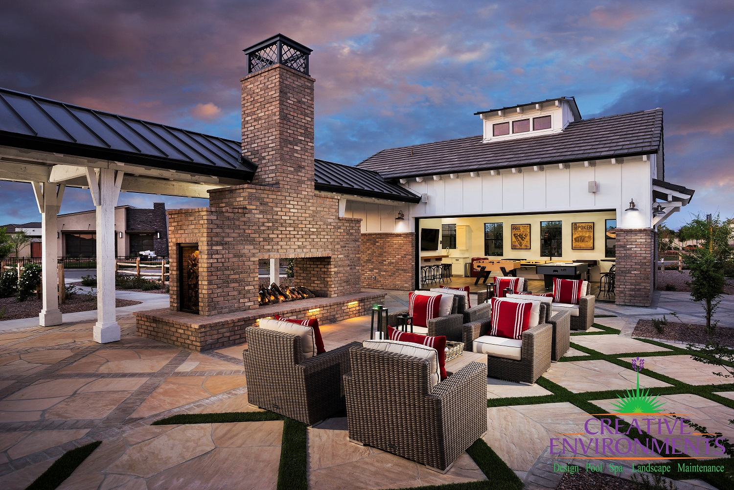 Calliandra Estates Clubhouse sitting area